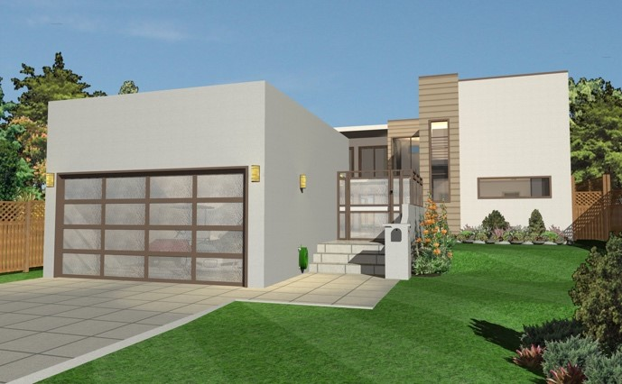 modern home design rendering by Architect 3D