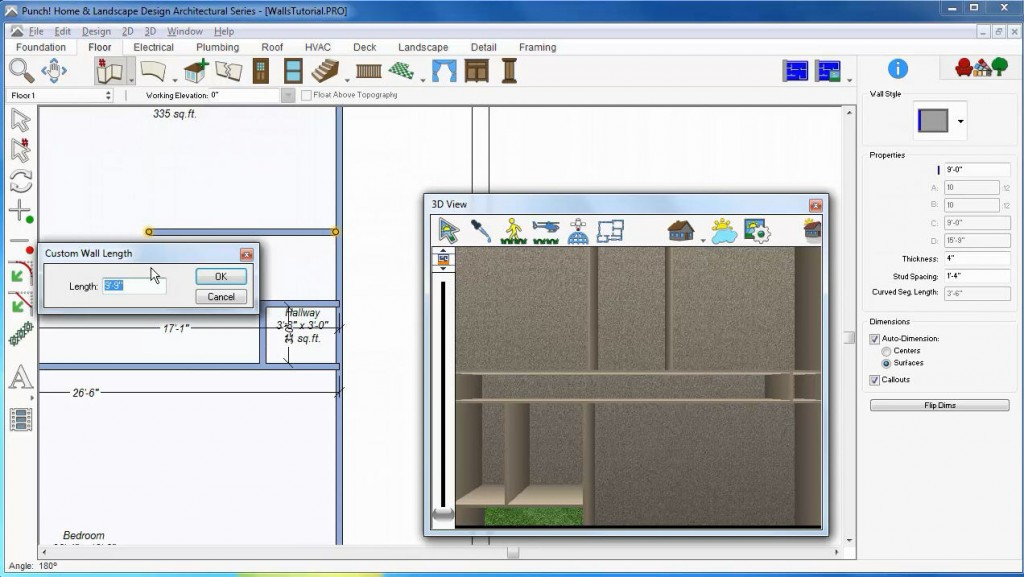 Custom Wall Tool Architect 3D