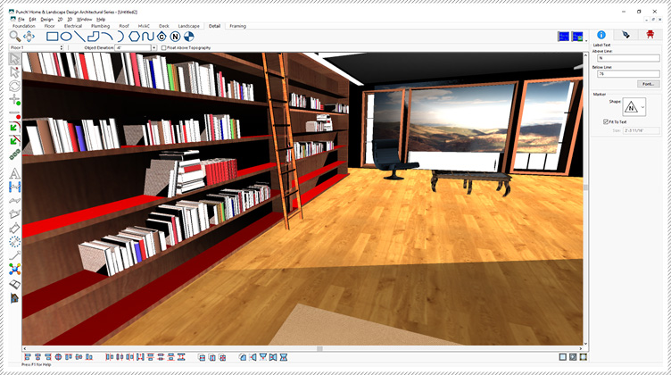 Architect 3D V21 rendering